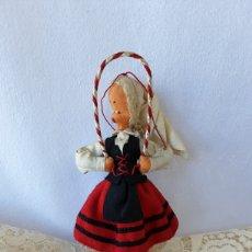Muñeca española clasica: ANTIGUA MUÑECA FIELTRO Y ALAMBRE TIPO LAYNA CON VESTIDO REGIONAL DE ALAVA 16 CM. Lote 261947670