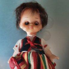Muñeca española clasica: MUÑECA ANTIGUA REGIONAL - PELO NATURAL - 23CM. Lote 262058770