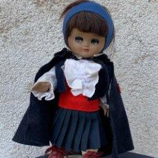 Muñeca española clasica: MUÑECA CABEZA CELULOIDE LINDA PIRULA CRUZ ROJA UNIFORME DORMILONA FLAUTA OJOS ABATIBLES 27X11CMS. Lote 265785694