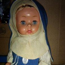 Muñeca española clasica: MUÑECA ANGELA DE INDUSTRIAS LEB. VESTIDA DE MONJA CONCEPCIONISTA AÑOS 50 MUY DIFICIL. Lote 266310198