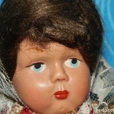 Muñeca española clasica: ANTIGUA MUÑECA REGIONAL MALLORQUINA CELULOIDE, 26 CM. Lote 267015889
