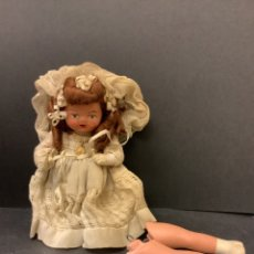 Muñeca española clasica: MUÑECA DE COMINION AÑOS 40 DE TERRACOTA PINTADA A MANO. Lote 268044204