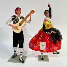 Bambola spagnola classica: JÓVENES ARAGONESES 23 Y 22 CM MUÑECAS MARÍN CHICLANA ARAGÓN MAÑOS. Lote 268576299