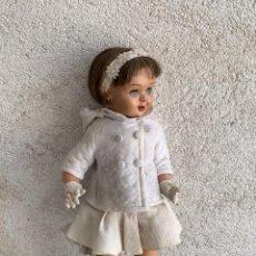 Muñeca española clasica: MUÑECA CELULOIDE CUERPO COMPOSICION TERESIN DORMILONA PELO NATURAL 45X17CMS. Lote 268913519