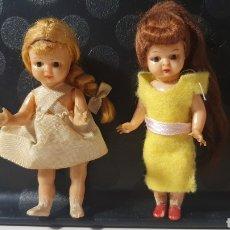 Muñeca española clasica: LOTE 2 MUÑECAS PEQUEÑAS ANTIGUAS/ OJOS DURMIENTES/ ( REF.CAJA-1). Lote 268980099