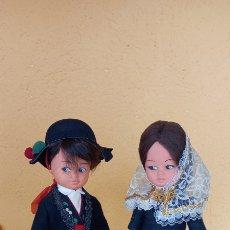 Muñeca española clasica: PAREJA MUÑECOS REGIONALES SILQUI DE LOS AÑOS 60. Lote 270223533