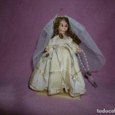 Muñeca española clasica: MUÑECA VINTAGE DE COMUNIÓN EN CELULOIDE. Lote 270961158