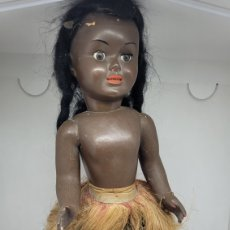 Muñeca española clasica: ANTIGUA MUÑECA CHELITOS NEGRA NEGRITA. AÑOS 50. CELULOIDE CARTON PIEDRA. NO NANCY. NO FAMOSA.. Lote 274927813