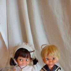 Bambola spagnola classica: PAREJA DE MUÑECOS COCOLITA DE DURPE VESTIDOS DE COMUNION AÑOS 60. Lote 276021293
