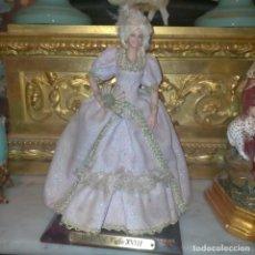 Muñeca española clasica: MUÑECA DE LA FABRICA MARIN CHICLANA CADIZ . MODELO VERSALLES TRAJE TISU ROSA VER - PEANA - 25 CM. Lote 276224428