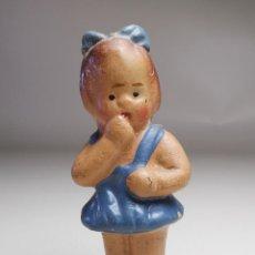 Bambola spagnola classica: MUÑECA BARRO MANOFACTURA TERRACOTA LEVANTINA ESPAÑA AÑOS 30-40. Lote 276249638