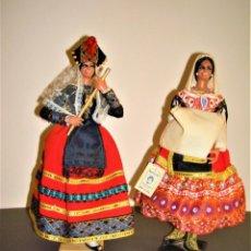 Muñeca española clasica: LOTE DE DOS MUÑECAS ANTIGUAS MARÍN.CHICLANA.MUÑECAS REGIONALES.LAGARTERANA.ASTURIANA.. Lote 276947918