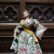 Muñeca española clasica: MUÑECA DE TRAPO FALLERA. BELLEZA DEL FOC. PUBLICIDAD ARROZ SOS.. Lote 278563463