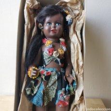 Muñeca española clasica: VIVIANA MUÑECA NEGRITA LEP AÑOS 50 CARTÓN PIEDRA ARTICULADA. Lote 278614423
