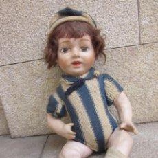 Muñeca española clasica: ANTIGUO MUÑECO DE CARTON PIEDRA. Lote 278871348