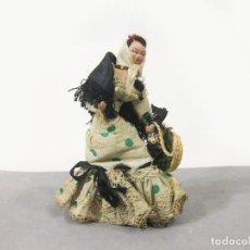 Muñeca española clasica: MUÑECA VIOLETERA DE FIELTRO O TRAPO VESTIDA CON EL TRAJE CASTIZO MADRILEÑO. CHULAPA O MADRILEÑA. Lote 279408288