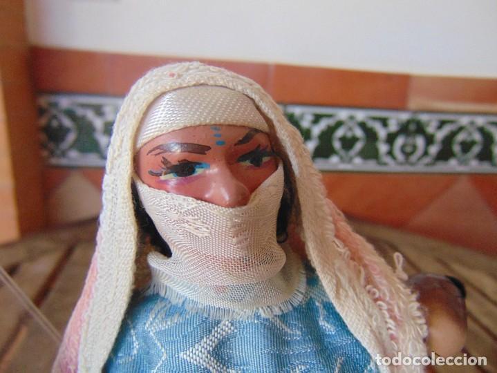 Muñeca española clasica: PAREJA DE MUÑECOS CON NIÑO A LA ESPALDA EN ESTUCO ,ALAMBRE Y TRAPO ,PINTADOS AL OLEO INDIOS ?? - Foto 6 - 279446698