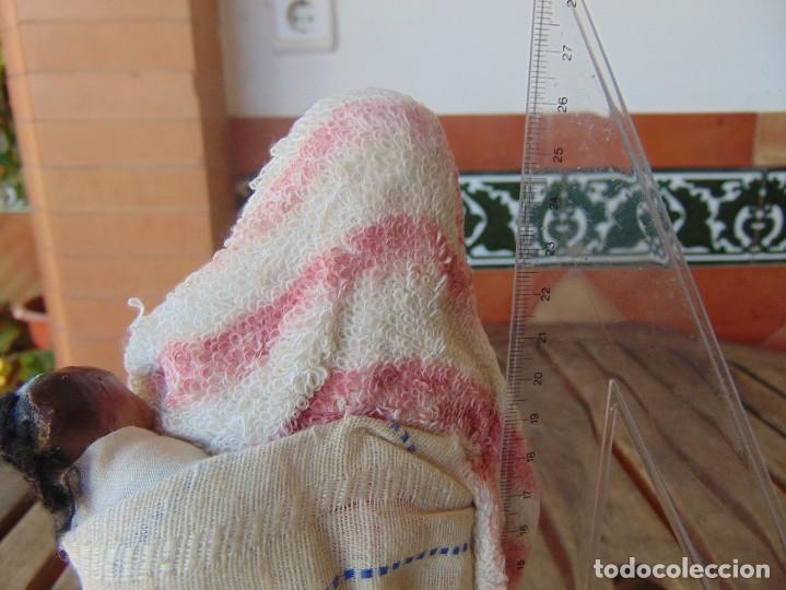 Muñeca española clasica: PAREJA DE MUÑECOS CON NIÑO A LA ESPALDA EN ESTUCO ,ALAMBRE Y TRAPO ,PINTADOS AL OLEO INDIOS ?? - Foto 10 - 279446698