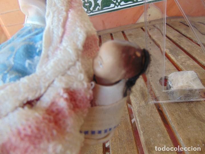 Muñeca española clasica: PAREJA DE MUÑECOS CON NIÑO A LA ESPALDA EN ESTUCO ,ALAMBRE Y TRAPO ,PINTADOS AL OLEO INDIOS ?? - Foto 12 - 279446698