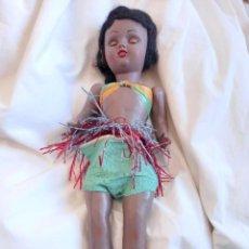 Muñeca española clasica: MUÑECA HAWAIANA 35CM ANTIGUA. Lote 282492918