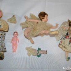 Muñeca española clasica: 5 ANTIGUAS Y PRECIOSAS MUÑECAS / MUÑEQUITAS / TRAPO, CERÁMICA, PVC Y OTROS MATERIALES - ¡MIRA FOTOS!. Lote 286779258