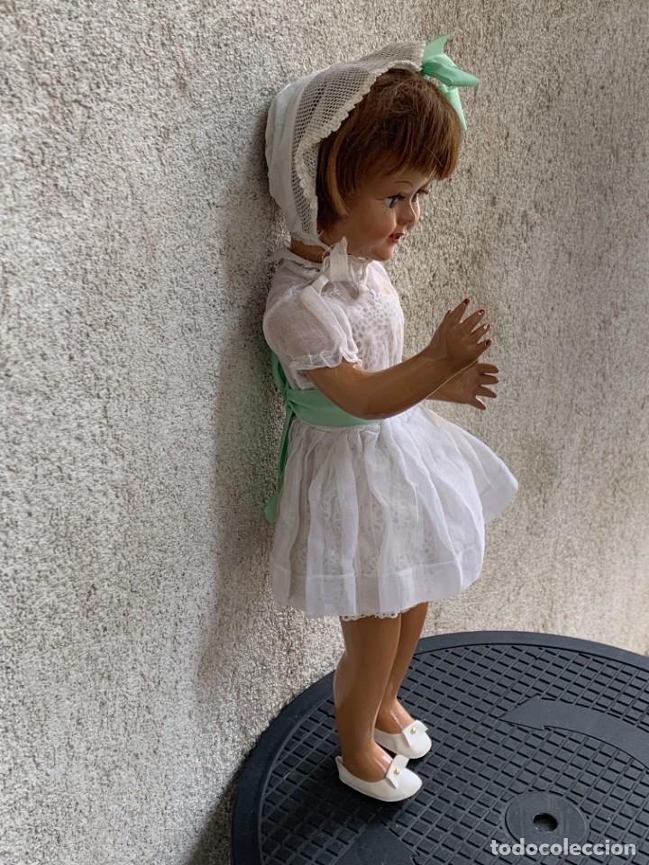 Muñeca española clasica: MUÑECA CELULOIDE OJOS DURMIENTES TIPO CAYETANA DIANA AÑOS 50-60 45X15X10CMS - Foto 2 - 287316283