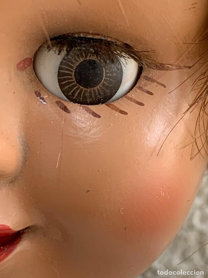 Muñeca española clasica: MUÑECA CELULOIDE OJOS DURMIENTES TIPO CAYETANA DIANA AÑOS 50-60 45X15X10CMS - Foto 4 - 287316283