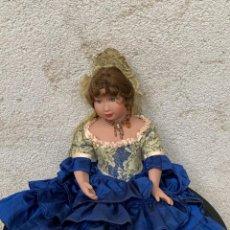 Muñeca española clasica: MUÑECA PORCELANA PINTADA MANO MARCA MENTA Y CANELA DE MARIN NOVIA ANDALUZA 51X23X10CMS. Lote 287655808