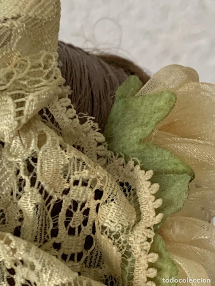 Muñeca española clasica: MUÑECA PORCELANA PINTADA MANO MARCA MENTA Y CANELA DE MARIN NOVIA ANDALUZA 51X23X10CMS - Foto 26 - 287655808