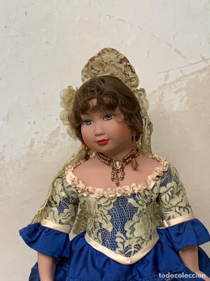 Muñeca española clasica: MUÑECA PORCELANA PINTADA MANO MARCA MENTA Y CANELA DE MARIN NOVIA ANDALUZA 51X23X10CMS - Foto 28 - 287655808