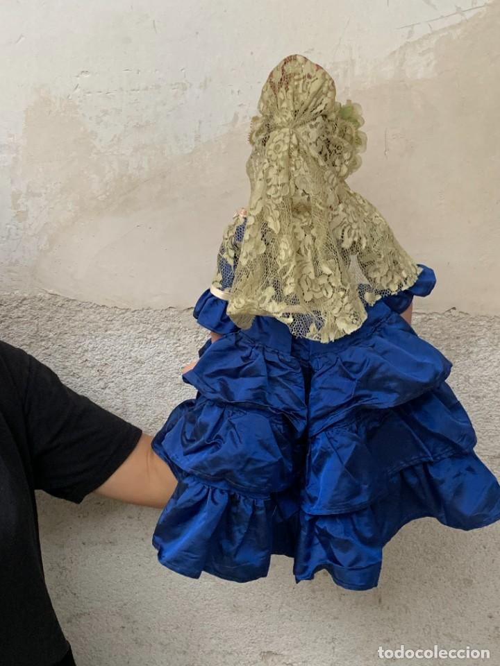 Muñeca española clasica: MUÑECA PORCELANA PINTADA MANO MARCA MENTA Y CANELA DE MARIN NOVIA ANDALUZA 51X23X10CMS - Foto 32 - 287655808