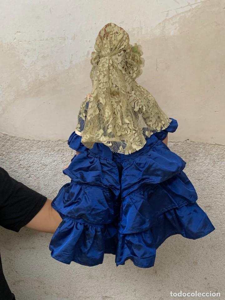 Muñeca española clasica: MUÑECA PORCELANA PINTADA MANO MARCA MENTA Y CANELA DE MARIN NOVIA ANDALUZA 51X23X10CMS - Foto 33 - 287655808