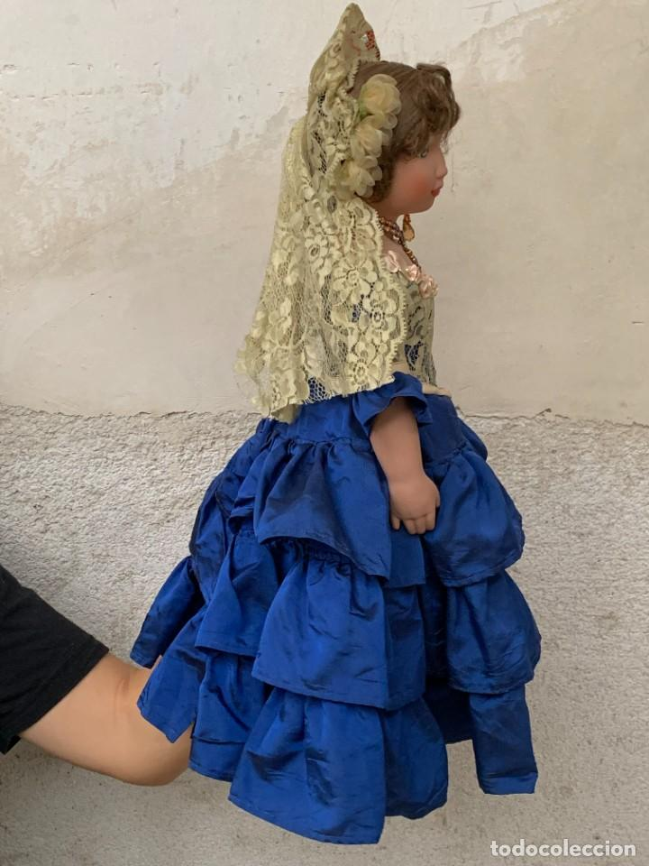 Muñeca española clasica: MUÑECA PORCELANA PINTADA MANO MARCA MENTA Y CANELA DE MARIN NOVIA ANDALUZA 51X23X10CMS - Foto 34 - 287655808