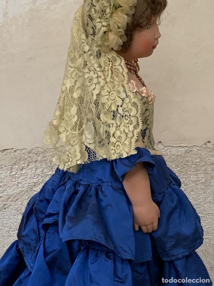 Muñeca española clasica: MUÑECA PORCELANA PINTADA MANO MARCA MENTA Y CANELA DE MARIN NOVIA ANDALUZA 51X23X10CMS - Foto 35 - 287655808