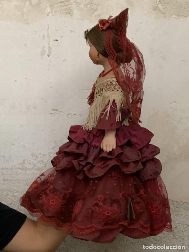 Muñeca española clasica: MUÑECA PORCELANA MARCA MENTA Y CANELA MEDINA REF 5160 BAILAORA PEINETA PINTADA MANO 53X22X11CMS - Foto 2 - 287656273