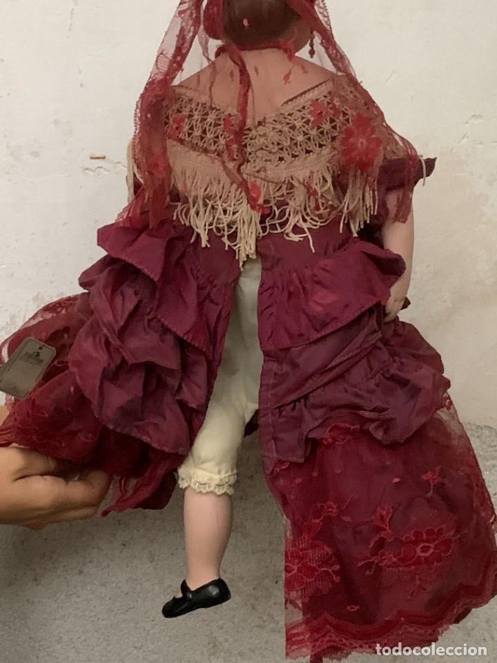 Muñeca española clasica: MUÑECA PORCELANA MARCA MENTA Y CANELA MEDINA REF 5160 BAILAORA PEINETA PINTADA MANO 53X22X11CMS - Foto 9 - 287656273