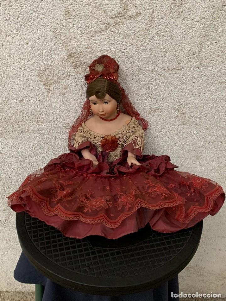 Muñeca española clasica: MUÑECA PORCELANA MARCA MENTA Y CANELA MEDINA REF 5160 BAILAORA PEINETA PINTADA MANO 53X22X11CMS - Foto 15 - 287656273