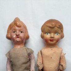 Muñeca española clasica: PAREJA DE MUÑECAS DE CARTON... PEPAS.. Lote 288563433