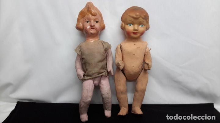 Muñeca española clasica: PAREJA DE MUÑECAS DE CARTON... PEPAS. - Foto 6 - 288563433