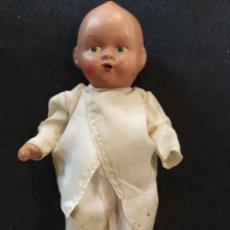 Muñeca española clasica: ANTIGUO MUÑECO, BEBÉ DE TERRACOTA, 21 CM. SELLADO.. Lote 288652248