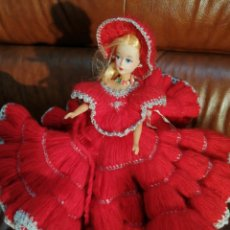 Muñeca española clasica: MUÑECA TIPO BARBIE VESTIDA FLAMENCA. Lote 293345258