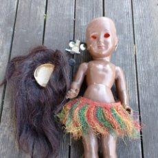 Boneca espanhola clássica: MUÑECA AÑOS 50 HAWAIANA PARA RESTAURAR.. Lote 295544483
