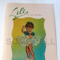 Muñeca Gisela: LIBRITO CATALOGO DE LILI HERMANA DE GISELA- LILI Y SUS MODAS. Lote 98106899
