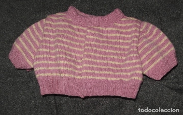 Muñeca Gisela: JERSEY DE LANA,VIOLETA,A RAYAS,DE GISELA,AÑOS 40 - Foto 2 - 139651350
