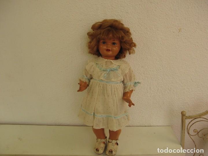 Muñeca Gisela: Muñeca Antigua Carton Piedra Gisela marcada en la nuca Ropa y Zapatos originales - Foto 7 - 142460774