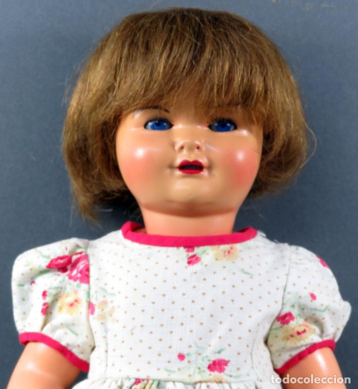 Muñeca Gisela: Gisela cartón piedra ojo durmiente peluca natural ropa original años 40 45 cm - Foto 2 - 164588398