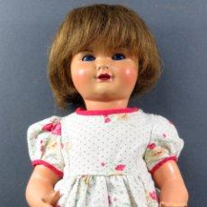 Gisela Dolls - Gisela cartón piedra ojo durmiente peluca natural ropa original años 40 45 cm - 164588398