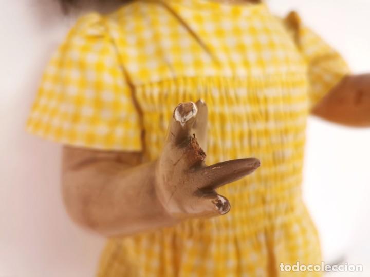 Muñeca Gisela: GISELA PRIMERA ÉPOCA. PELO NATURAL. PRECISA RESTAURACIONES. ESPAÑA. AÑOS 40 - Foto 5 - 205825631