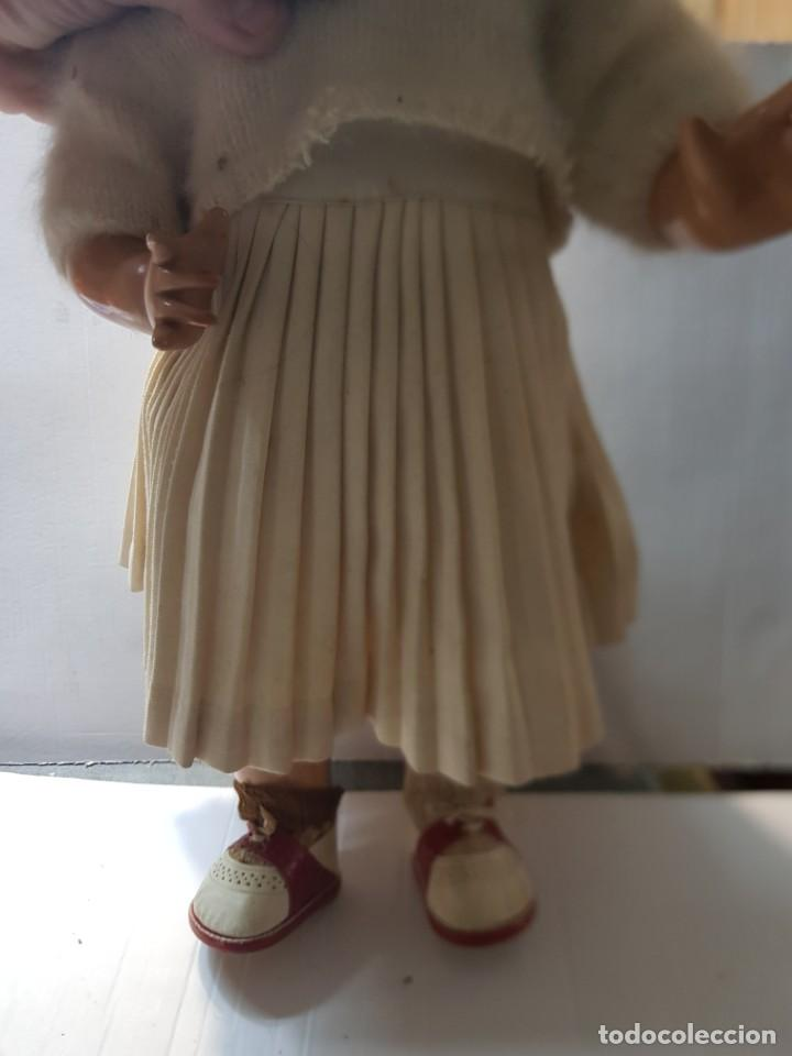 Muñeca Gisela: Muñeca Gisela carton piedra policromada ojos azules durmientes con movimiento en caja original - Foto 3 - 254196625