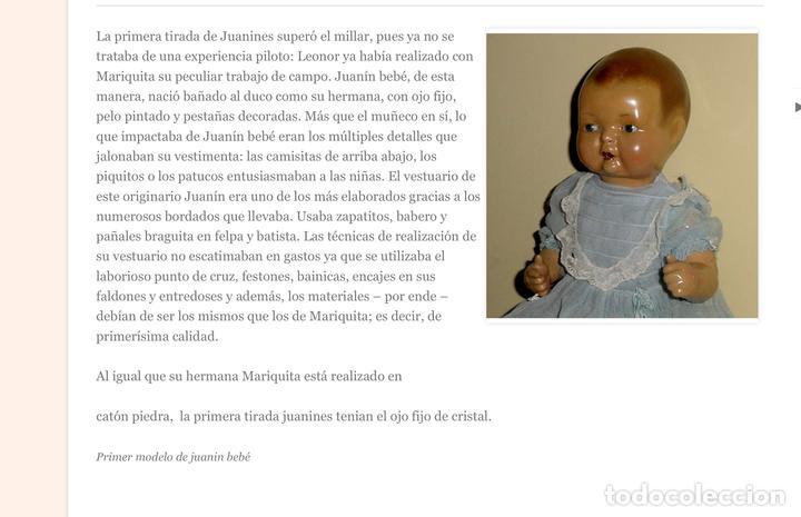 Muñeca Mariquita Pérez y Juanin: MUÑECO JUANIN PRIMERA EDICIÓN OJO FIJO - Foto 6 - 94476146